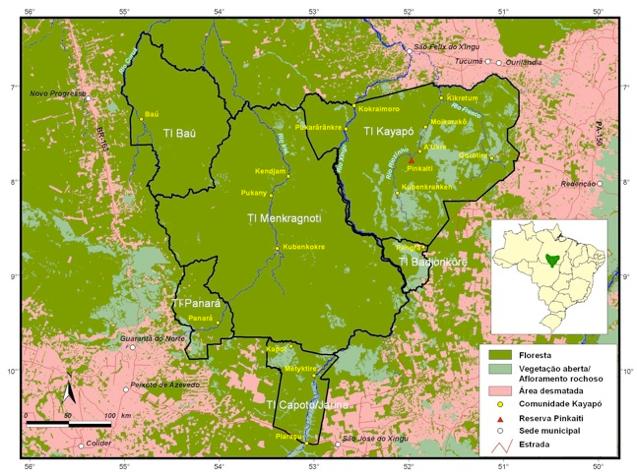 map Kayapo